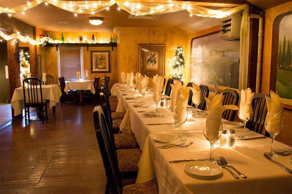 Our Private Room Configured As One Large Table