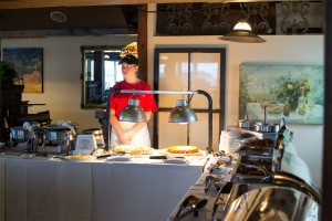 Our buffet crew is ready to get you what you need
